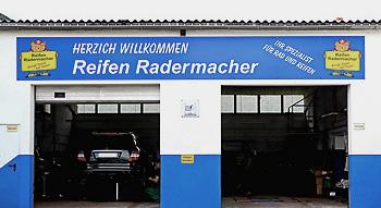Reifen Radermacher Fontansicht